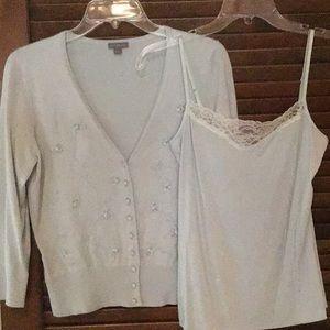 Ann Taylor Cardigan Sweater and Cami Set